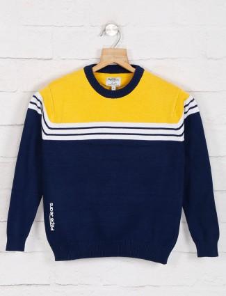 Pepe jeans blue stripe cotton sweatshirt