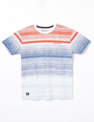 Pepe Jeans blue stripe slim fit t-shirt