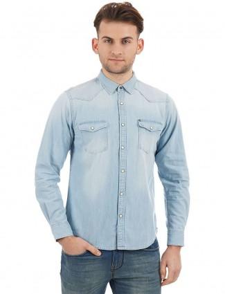 Pepe Jeans denim light blue shirt
