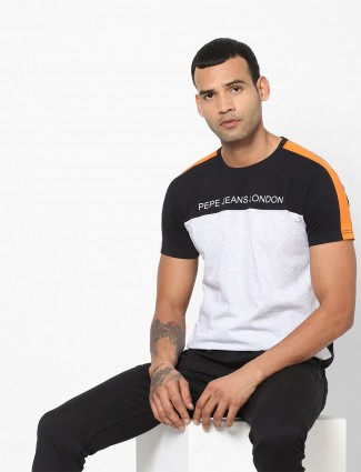 Pepe Jeans grey half sleeves solid t-shirt