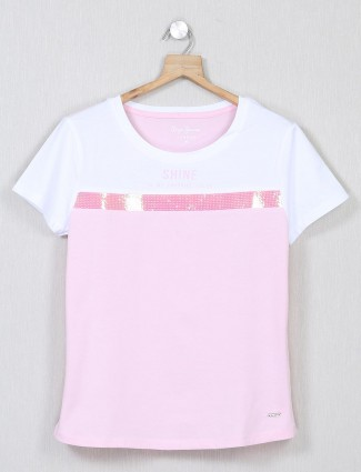 Pepe Jeans pink colour casual top