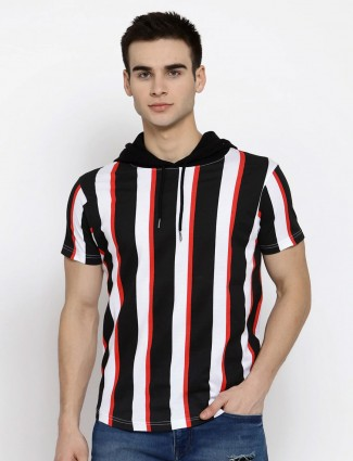 Pepe Jeans presented black and red stripe t-shirt