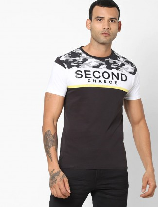 Pepe Jeans printed casual black t-shirt