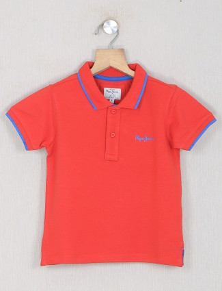 Pepe jeans red shade casual t-shirt