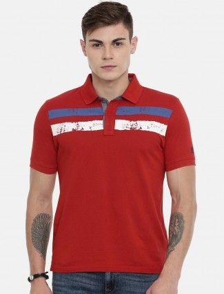 Pepe Jeans red stripe polo t-shirt