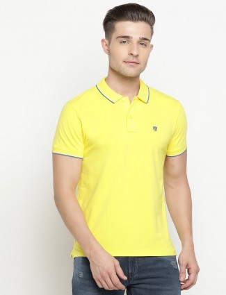 Pepe Jeans slim fit solid yellow t-shirt