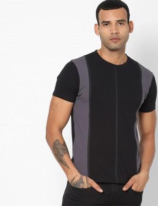 Pepe Jeans solid black cotton mens t-shirt