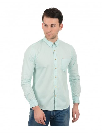 Pepe Jeans solid green casual shirt