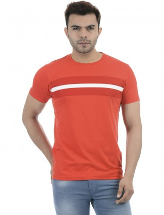 Pepe Jeans solid orange casual t-shirt