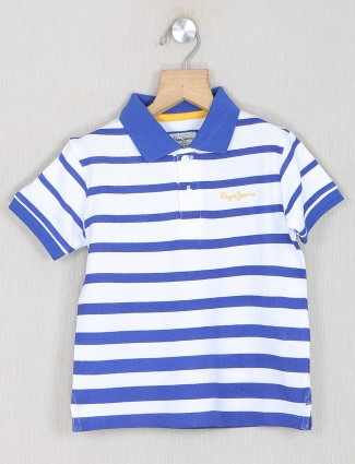 Pepe jeans striped style white t-shirt