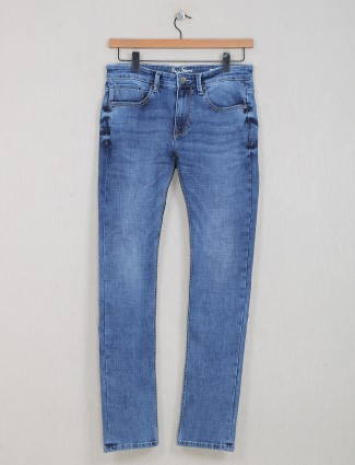 Pepe Jeans washed blue slim fit men casual jeans