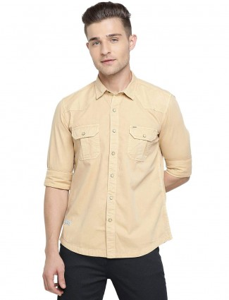 Pepe Jeans yellow cotton shirt