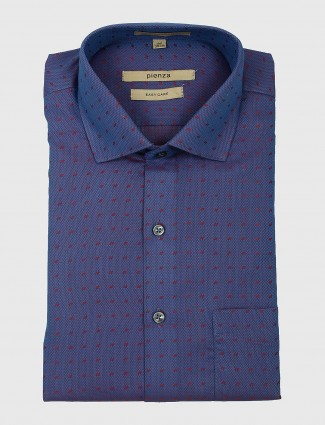 Pienza blue printed mens shirt