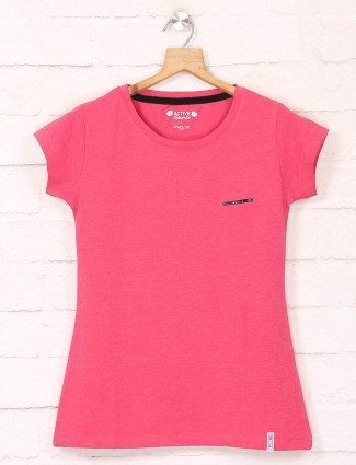 pink casual tshirt in cotton