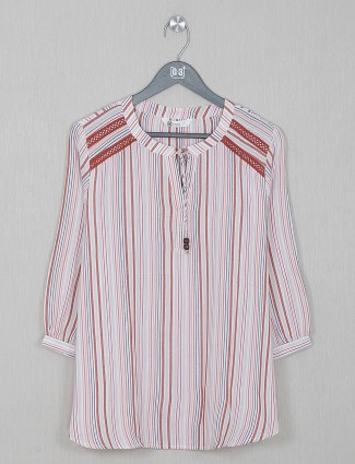 Pink causal wear top in cotton
