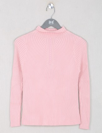 Pink charming casual wear top for women
