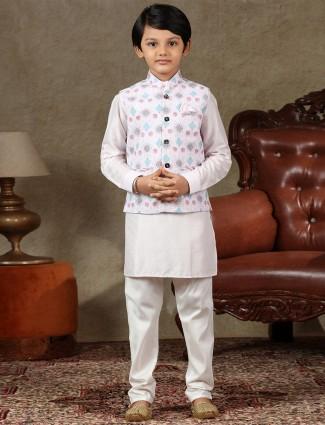 Pink cotton boys waistcoat set