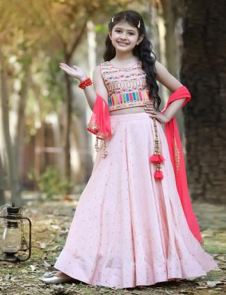 Pink cotton silk lehenga choli for wedding sessions