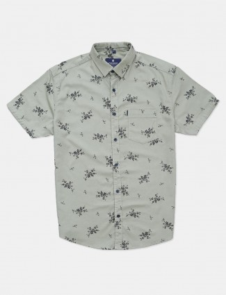 Pioneer printed pista green shirt