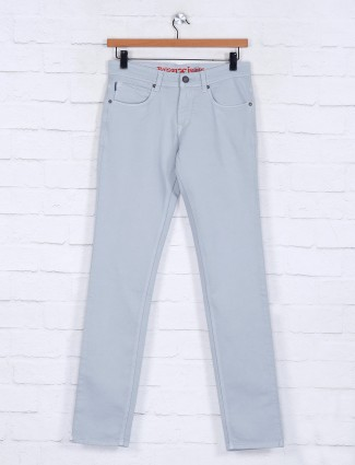 Poison solid light grey slim fit jeans