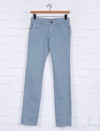 Poison solid sea green slim fit jeans