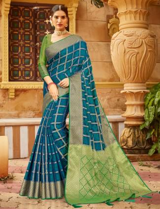 powder blue soft silk for wedding function