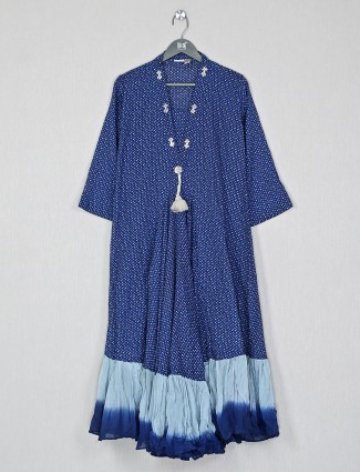 Pretty blue cotton kurti for casual look