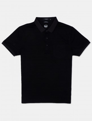Psoulz cotton t-shirt in printed polo black