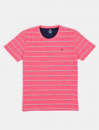 Psoulz polo pink stripe t-shirt