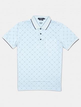 Psoulz polo printed light blue t-shirt