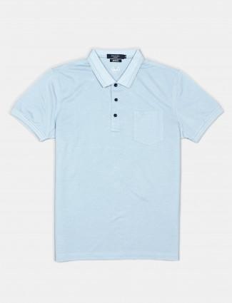 Psoulz slim fit soli blue polo t-shirt