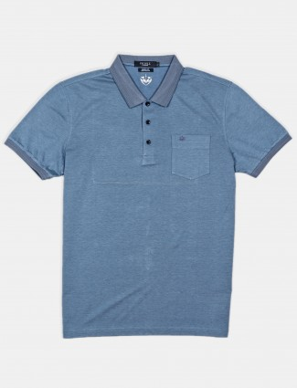 Psoulz solid dark silver solid polo t-shirt