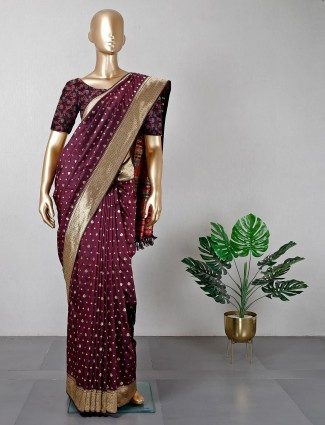 Purple saree for wedding sessions