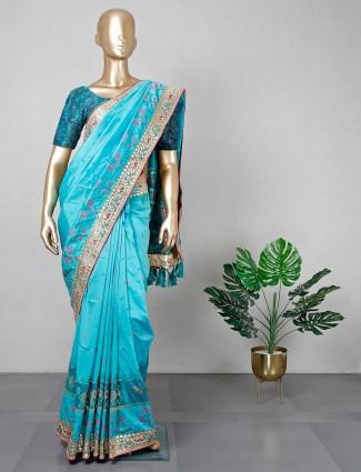 Rama green patola silk wedding wear saree