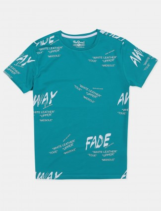 Raxstraut sky cotton printed slim-fit t-shirt for mens
