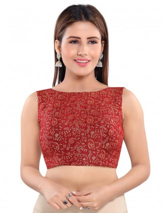 Readymade maroon brocade blouse