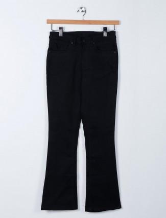 Recap black bell bottom denim jeans