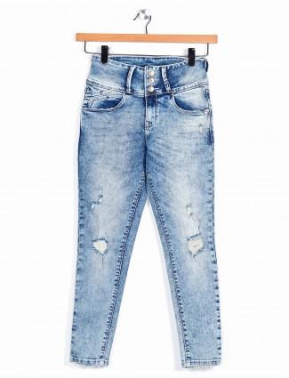 Recap blue color denim for women