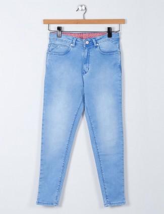 Recap light blue color denim for women