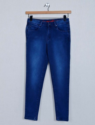 Recap womens casual wear dark blue jeans