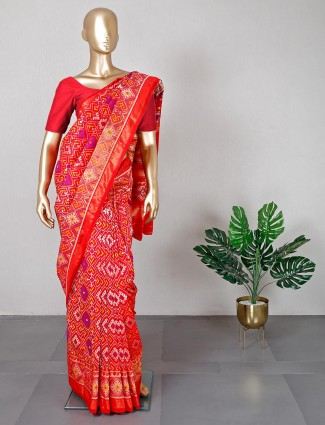 Red patola saree for women