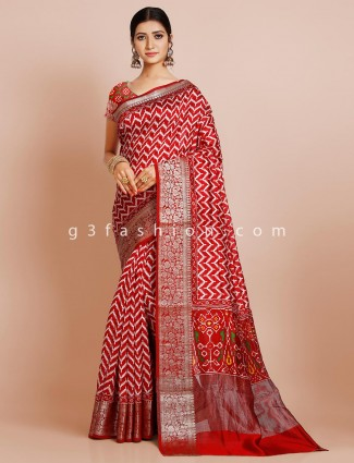 Red patola wedding wear saree
