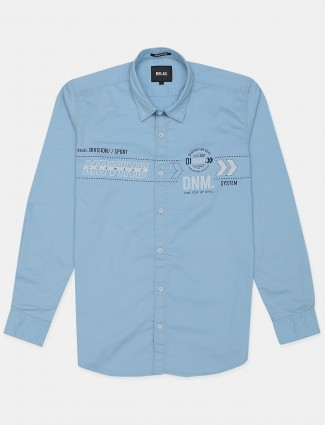 Relay baby blue shade shirt for men in cotton