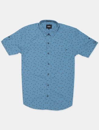 Relay bezique blue shade t-shirt in printed style