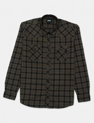 Relay brown checks patern cotton shirt