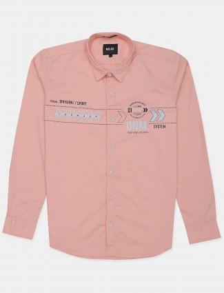 Relay cantaloupe orange shade shirt for men in cotton