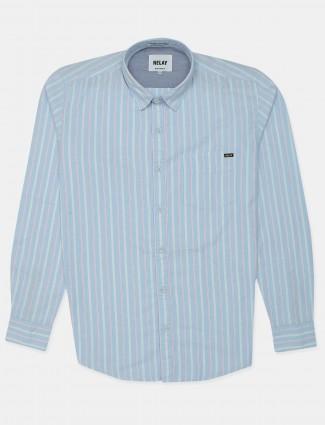 Relay light blue casaul shirt for mens