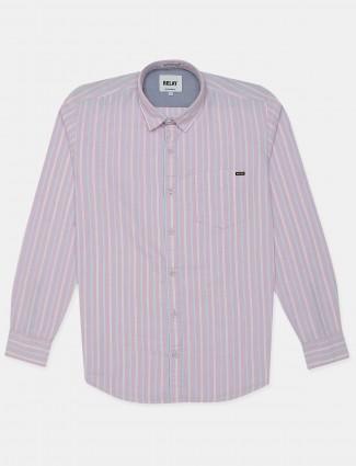 Relay light pink cotton shirt
