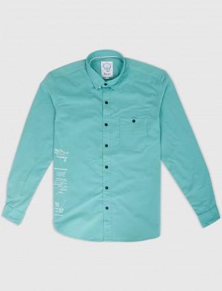 Relay pastle green cotton shirt