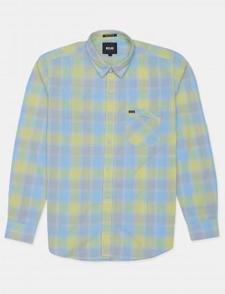 Relay presented lemon yellow hue chexs shirt